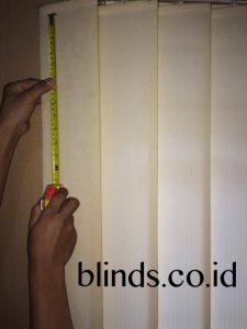 cara menghitung vertical blinds bahan saja