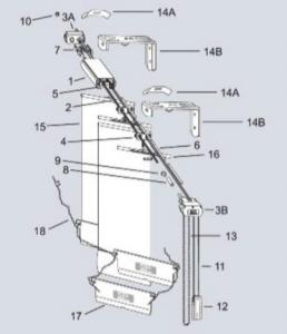 komponen system vertical blinds