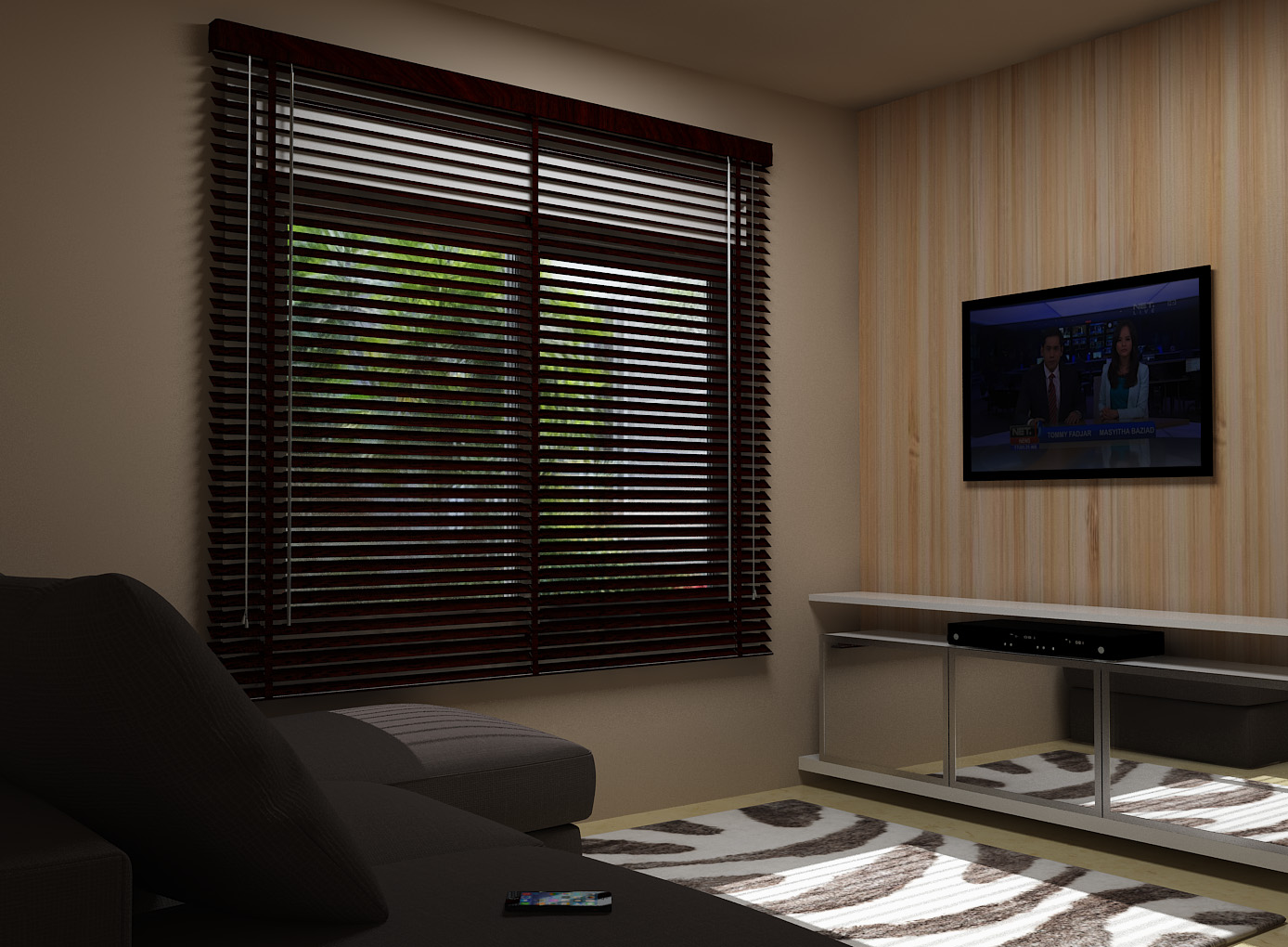 venetian blinds sharp point Black