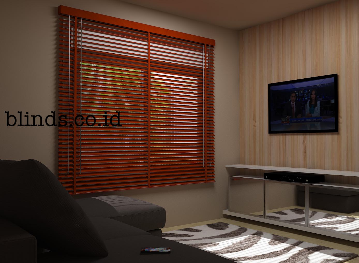 venetian wood blind Light Cherry copy