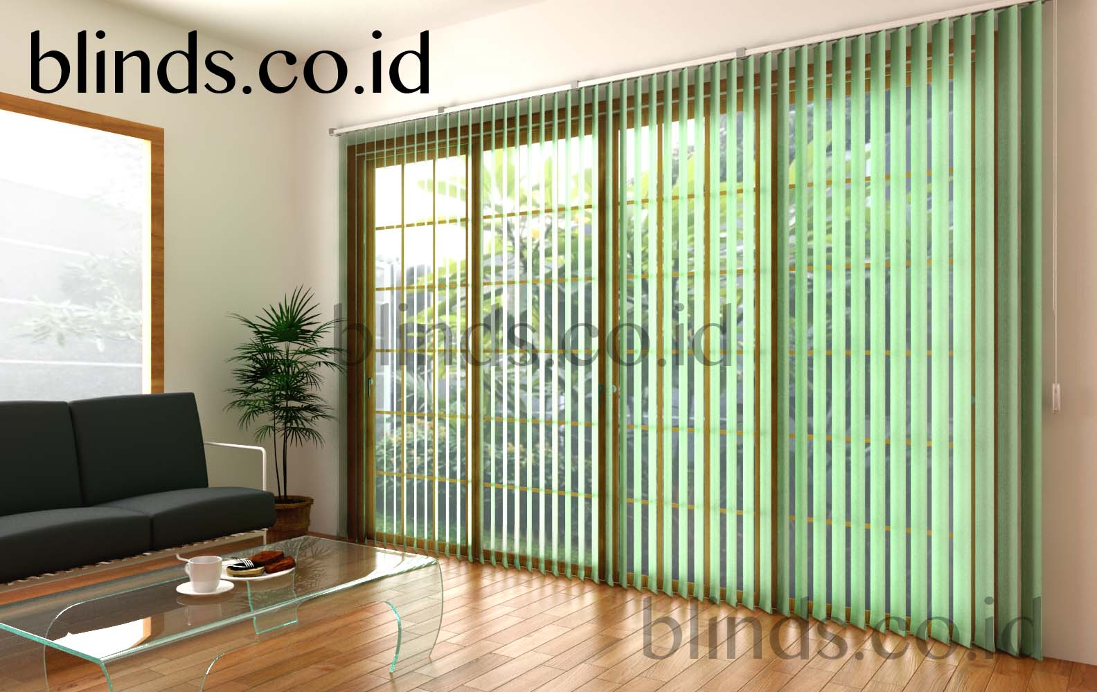 vertical blinds sharp point sp 8000-5 green