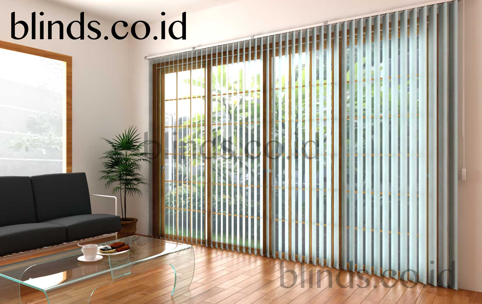vertical blinds sharp point sp 8007-4 blue