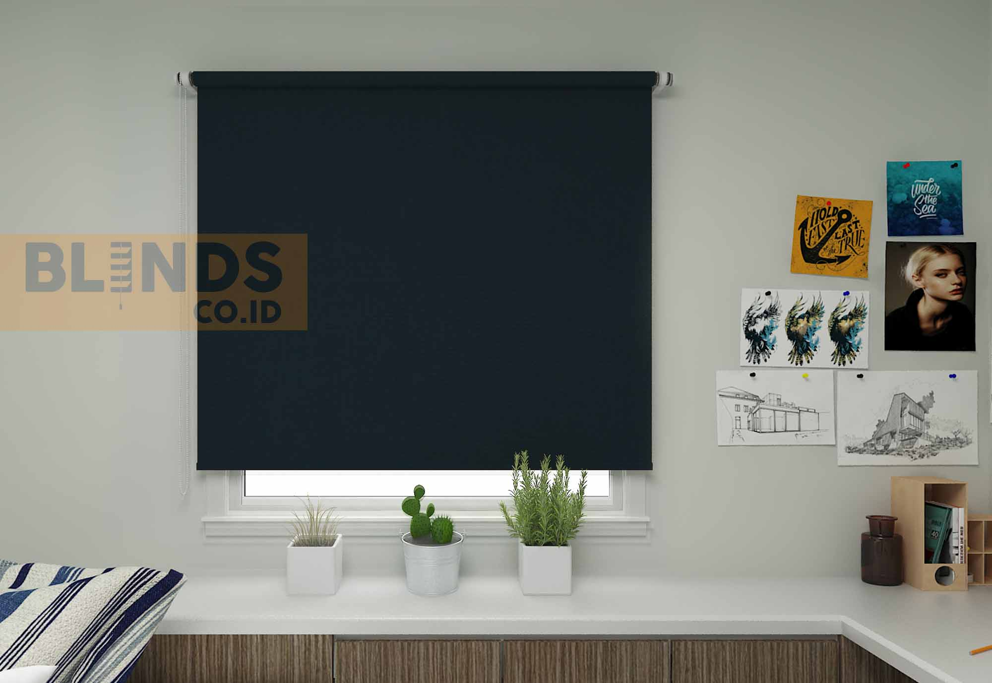 Roller blinds sharp point SP.4705 Blue copy