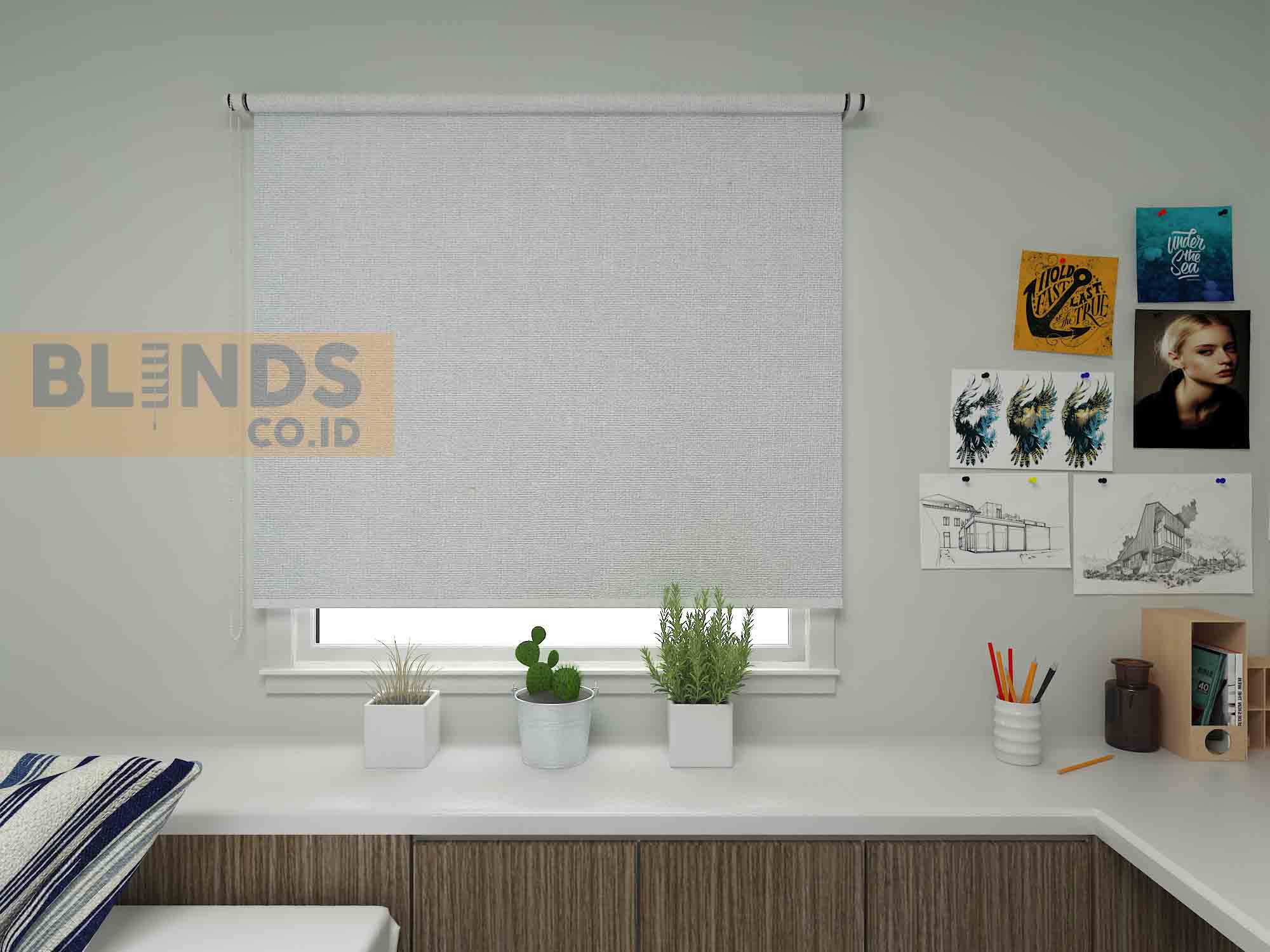 roller blinds sharp point SP 4000-2 WHITE + WHITE copy