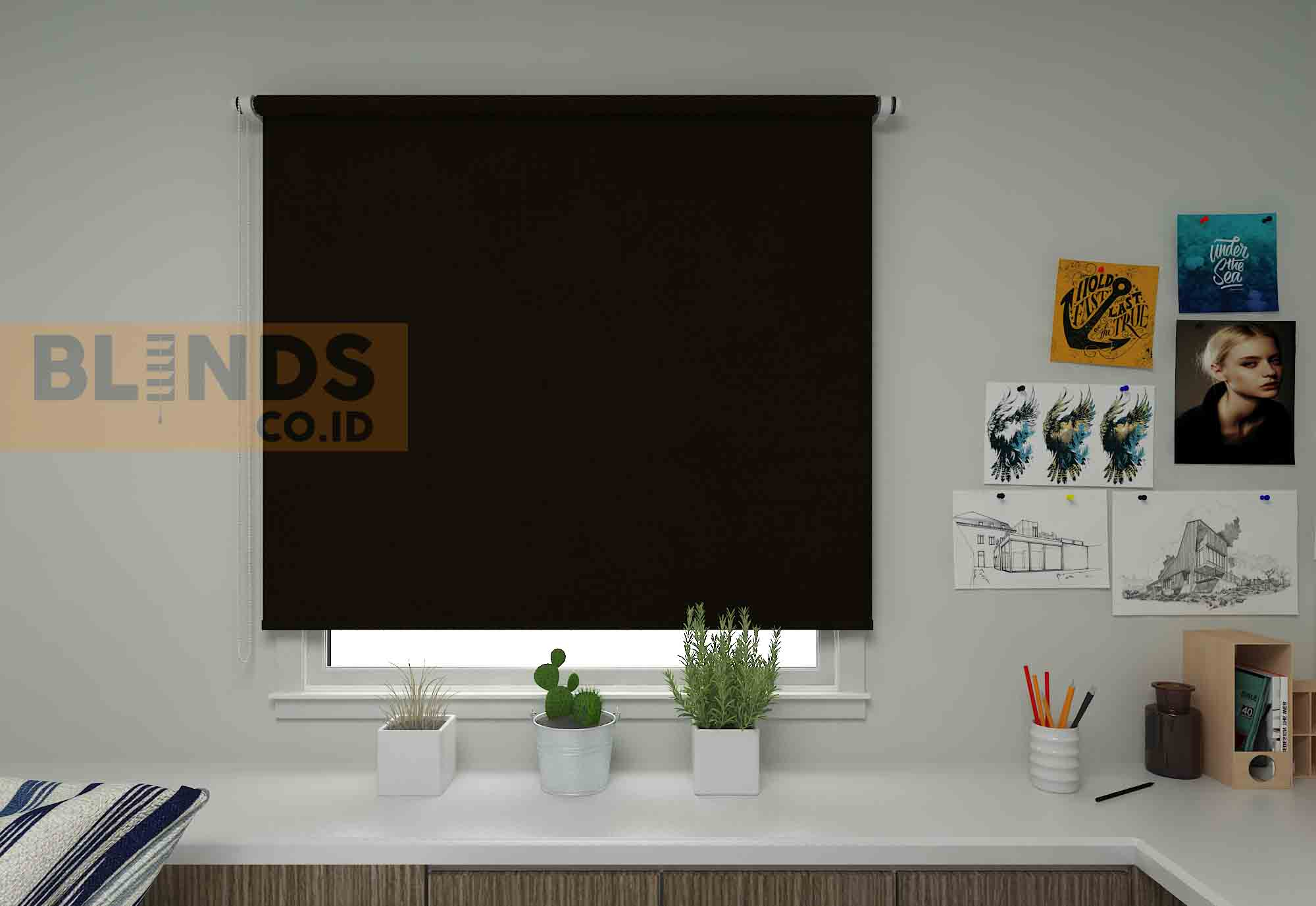roller blinds sharp point SP.4000-6 BRONZE copy