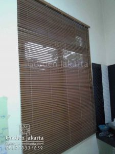 harga wooden blinds slat 27 mm
