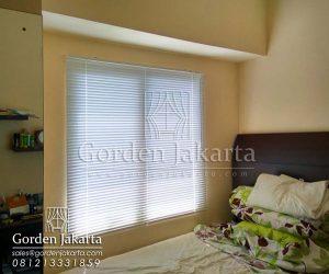 jual venetian blinds deluxe slatting Sp.011 putih murah