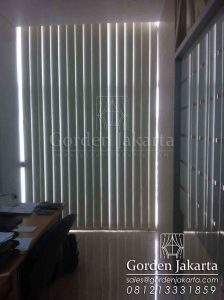Vertical Blinds Blackout Sp.6066-2 Cream Di Tanah Abang Q3450