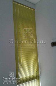 jual venetian blinds deluxe slatting warna kuning Q3284