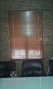 jual horizontal blinds kayu slatting 25 mm Sp 936