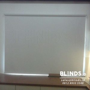 Roller Blinds Blackout Superior Sp. 6045-10 White Di Kembangan Q3618