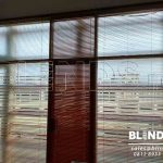 Venetian Blinds Wood Motive Slatting Untuk Klien Di Cimanggis Depok