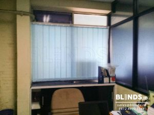 Blue Dimout Vertical Blinds Sp. 8003-4 blue Q3727