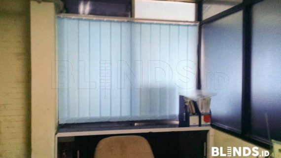 Blue Dimout Vertical Blinds Project Di Cawang