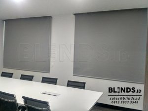 Contoh Roller Blinds Blackout Superior Sp. 6045-3 Grey Q3684