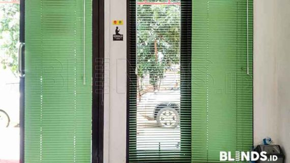 Contoh Venetian Blinds Warna Hijau Project Di Cawang