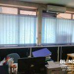 Tirai Vertikal Bahan Dimout Sp. 8003-4 Biru Di Cawang