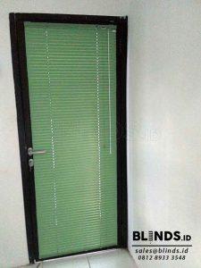 horizontal blinds warna hijau deluxe slatting 25mm Q3743