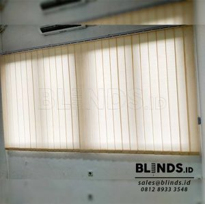 Dimout Vertical Blinds Sp 8000-7 Beige Project Cibitung Q3786