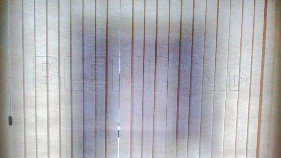 Vertical Blinds Semi Blackout Project Jakarta Utara