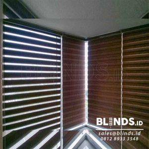 contoh rainbow blinds dimout 75mm Series RW 144 di Kalibata Q3835