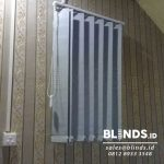 Dark Grey Vertical Blinds Blackout Teluk Intan