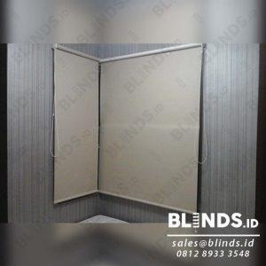 Contoh Roller Blinds Blackout Super Quality Sp.6044-2 Beige Q3914