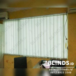 Model Tirai Jendela Kantor Vertical Blinds Sp. 707-2 Silk Grey Q3947