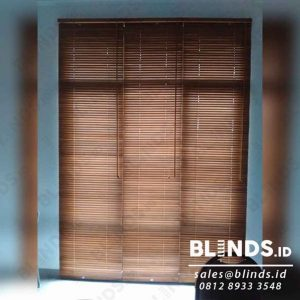 Wooden Blinds Light Natural Tropical Hard Wood 27 mm Sp. 03 WB Q3954
