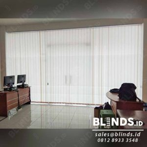 Beige Vertical Blinds Dimout Sp.8006-7 di Cipinang Q4031