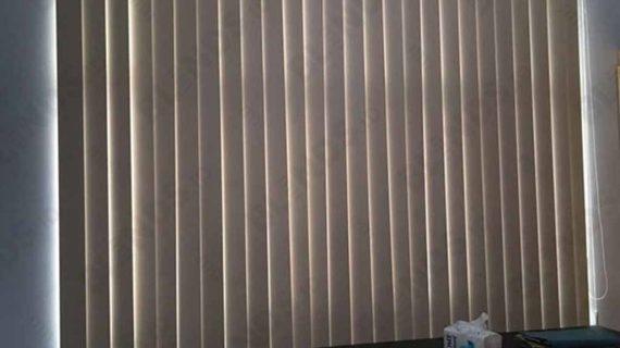 Blackout Vertical Blinds Warna Peach Menteng