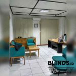 Warna Beige Vertical Blinds Dimout Pasang Di Kebagusan
