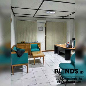 Contoh Vertical Blinds Dimout Sp.8008-7 Beige Sharp Point Di Kebagusan Q3850