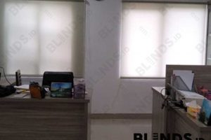 Roller Blinds Dimout Sp.707-2 Silk Grey Project Tapos Depok Q3948