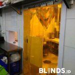 Tirai Plastik Bening Untuk Pabrik Dan Restoran