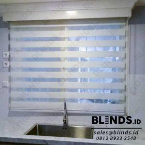 Contoh Zebra Blinds Dimout Sp.Z88-1 Cream Di Mampang id3938