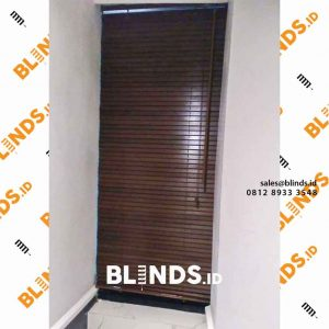 contoh gambar wooden Blinds tropical hard wood 27 mm di Jakarta Timur id4178