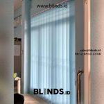 Vertical Blinds Bahan Dimout Biru Bintaro Jaya Sektor 5