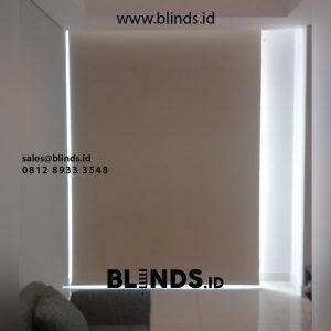 contoh roller blinds merk onna bahan blackout di taman anggrek id4546