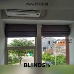 contoh roman shades bahan semi blackout