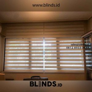 Contoh Zebra Blinds Super Sun Screen White Di Rasuna Said id4712