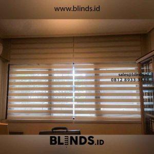 Contoh Zebra Blinds Super Sun Screen White Di Rasuna Said id4712