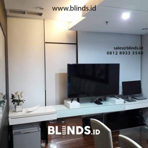 contoh roller blinds blackout super quality warna putih id4523