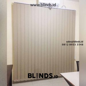 contoh vertical blinds blackout sharp point di Pasar Minggu id4734