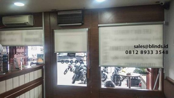 Harga Roller Blinds Superior Dimout Di Barber Shop Sunter Indah