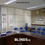 Project Vertical Blinds Semi Blackout Pasang Di Gaya Motor Raya Sunter
