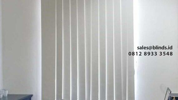 Referensi Gambar Vertical Blinds Blackout Beige Project Bintara Bekasi