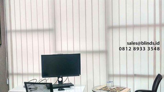 Melayani dan Jual Vertical Blinds Dimout Custom Di Cipambuan Sentul Bogor