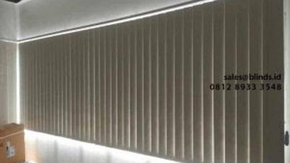 Project Gorden Untuk Kantor Model Vertical Bahan Blackout Pasang Di Komplek Pergudangan Central Cakung Cilincing