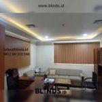 Contoh Tirai Vertical Blinds Superior Blackout Superior Brown Pasang Di Gedung DPR Senayan